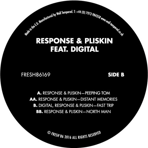 "Response & Pliskin Feat. Digital - FRESH86169 - 12"" Vinyl"