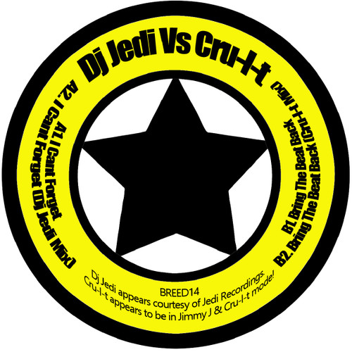 "DJ Jedi Vs Cru-L-T - Jedi Mind Tricks EP - Knitebreed - 12"" Vinyl"