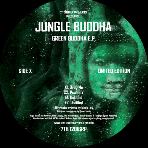 "Jungle Buddha - Green Buddha EP - Limited 12"" Vinyl"