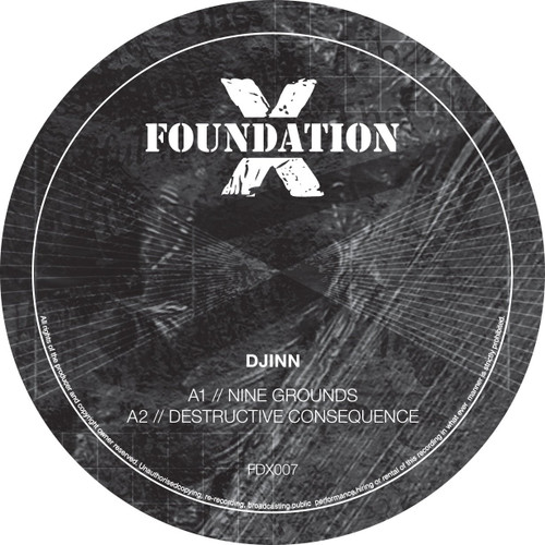 "Djinn - Dark Reference EP - Foundation X - 12"" Vinyl"