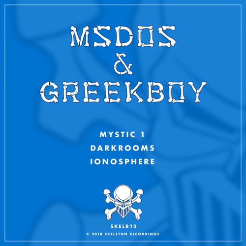 "mSdoS & Greekboy - Mystic 1/Darkrooms/Ionosphere - Skeleton Recordings 12"" Vinyl"