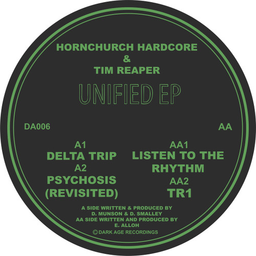 "Unified EP - Hornchurch Hardcore & Tim Reaper - Dark Age Recordings - 12"" Vinyl"