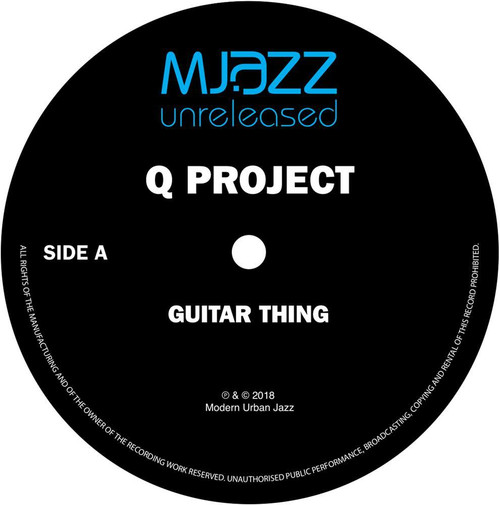 "Q Project - Guitar Thing - 12"" Vinyl"
