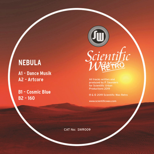 "SCIENTIFIC WAX RETRO 009 - Nebula - Dance Musik - 12"" Transparent Red Vinyl"