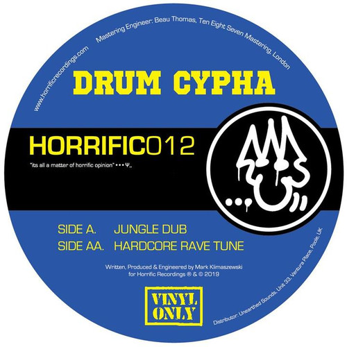 "Drum Cypha - Jungle Dub / Hardcore Rave Tune - 12"" Vinyl"