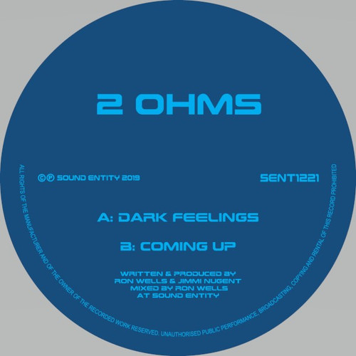 "2 Ohms - Dark Feelings / Coming Up - 12"" Vinyl"