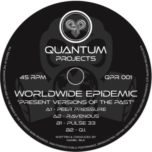 """Worldwide Epidemic - Versions Of The Past - 12"""" Vinyl (White Label)"""
