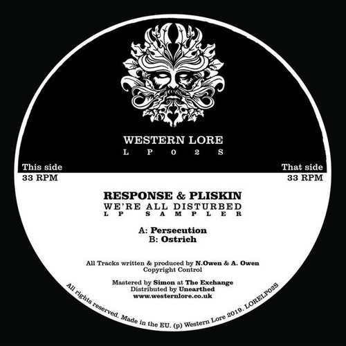 "Response & Pliskin - We're All Disturbed [12"" LP Sampler]"