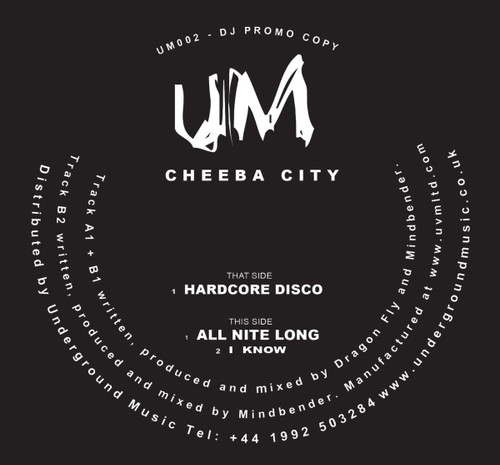 "Cheeba City - Hardcore Disco - 12"" Vinyl"