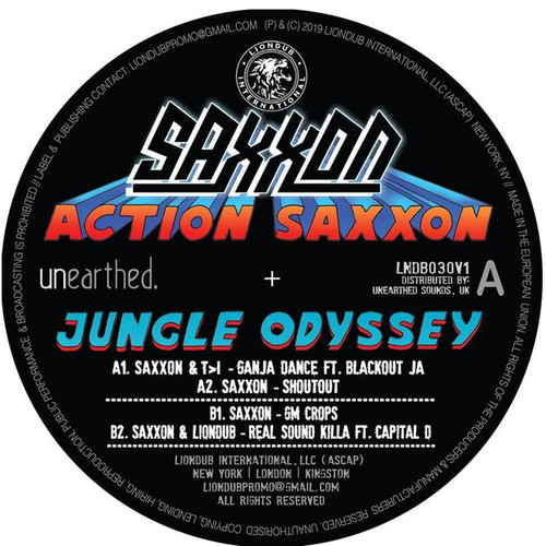 "Saxxon - Action Saxxon - Jungle Odyssey EP 1 - 12"" Vinyl"