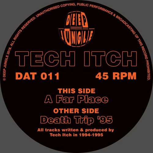 "Tech Itch - Death Trip 95 / Far Place - 12"" Vinyl"