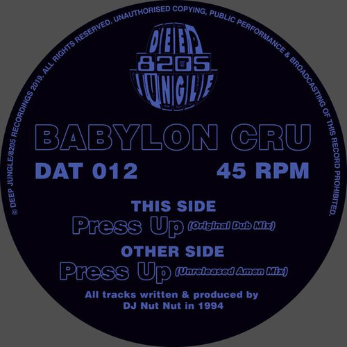 "Babylon Cru - Press Up - 12"" Vinyl"