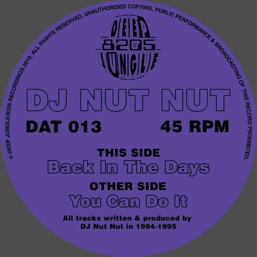 """DJ Nut Nut - You Can Do It / Back In the Days - 12"""" Vinyl"""