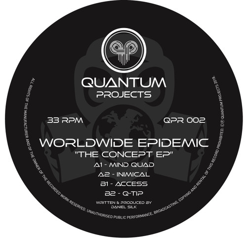 "Worldwide Epidemic ‎– The Concept EP - 12"" Vinyl"