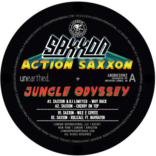 "Saxxon - Action Saxxon - Jungle Odyssey EP 2 - 12"" Vinyl"