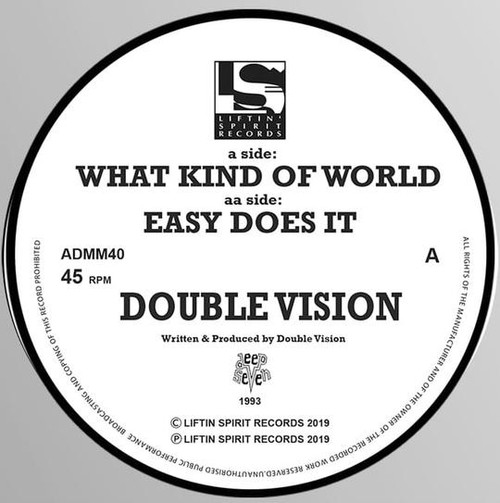 "Double Vision - What Kind Of World / Easy Does It - 12"" Vinyl"