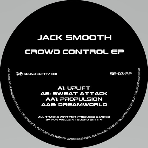 "Jack Smooth - Crowd Control EP - 12"" Vinyl"