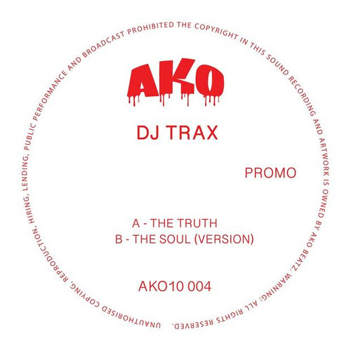 "AKO10 Series Presents: DJ Trax - 10"" Red Vinyl"