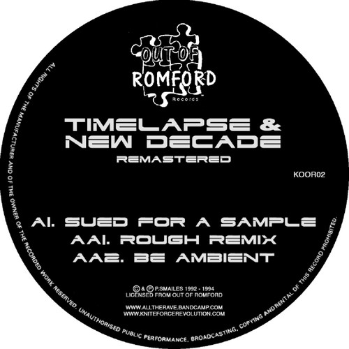 """Timelapse & New Decade - Sued For A Sample EP - 12"""" Vinyl"""