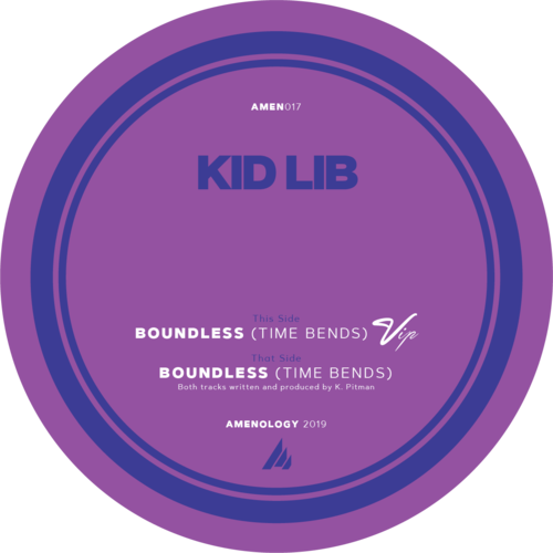 "Kid Lib - Boundless (Time Bends) VIP / Boundless (Time Bends) - 12"" Coloured Vinyl"