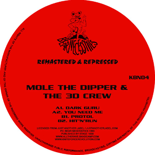 "Mole The Dipper & The 3D Crew - Dark Guru EP - 12"" Vinyl"