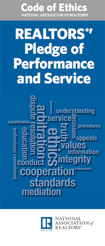 COE-- The REALTORS®' Pledge of Performance and Service-Download