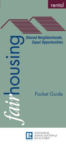 Fair Housing Rental: Pocket Guide (Printed Guide)