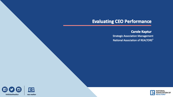 Evaluating CEO Performance Cover
