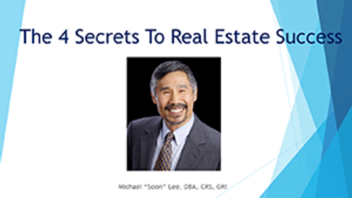 The 4 Secrets To Real Estate Success Webinar Download