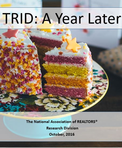 TRID: A Year Later (Download)