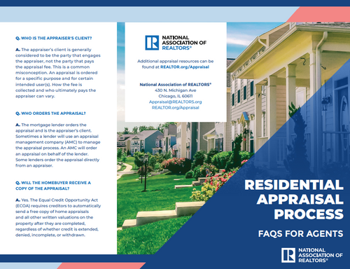 Residential Appraisal Process: FAQs for Agents-Download
