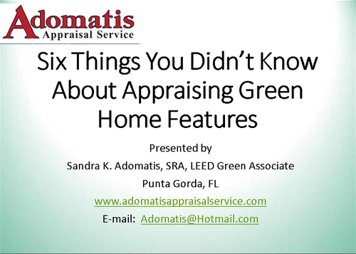 Six Things You didn't Know About Green Appraisals Webinar-Download