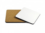 Personalised Hardboard Coaster with Cork Backing (Set of 4)