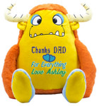 Personalised Message Bear - Yellow Monster Cubby