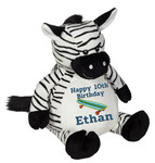 Personalised Message Bear - Zebra Embroider Buddy