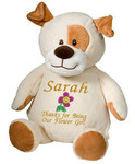 Personalised Message Bear - Puppy Embroider Buddy