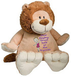 Personalised Message Bear - Lion Embroider Buddy