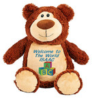 Personalised Message Bear - Brown Bear Hug-Me Cubby