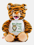 Personalised Message Bear - Signature Tiger Hug-Me Cubby