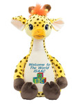 Personalised Message Bear - Signature Giraffe Hug-Me Cubby