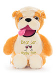 Personalised Message Bear - Signature Bulldog Hug-Me Cubby