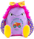 Personalised Hug-Me Cubby - Pink Monster birth design