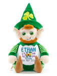 Personalised Hug-Me Cubby - Leprechaun (Birth Design)