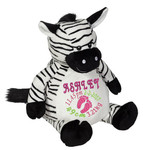 Personalised Embroider Buddy - Zebra (Birth Design)