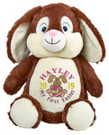 Personalised Easter Bear - Brown Rabbit Hug-Me Cubby