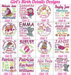 Personalised Cubby - Husky Girl's Birth Designs