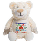 Angel Bear with a personalised christmas design