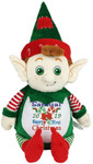 Give a personalised Green Elf Cubby with a Christmas design