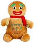 Gingerbread Man cubby with a personalised Christmas design embroidered onto it