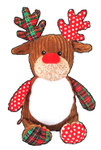 Personalised Christmas Brown Harlequin Reindeer